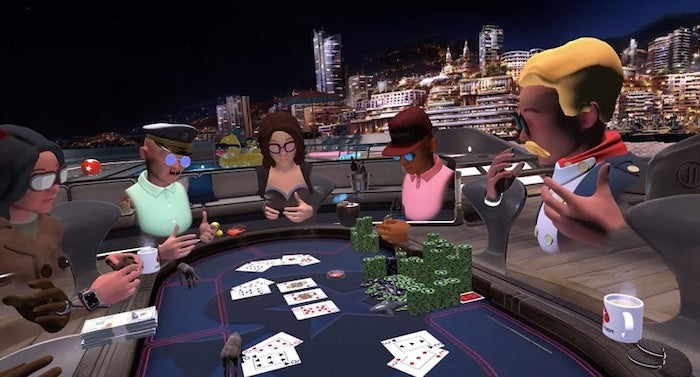 Poker players trying PokerStars VR