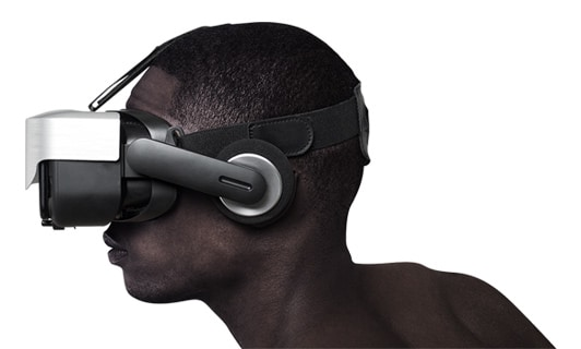 A black man with a headset