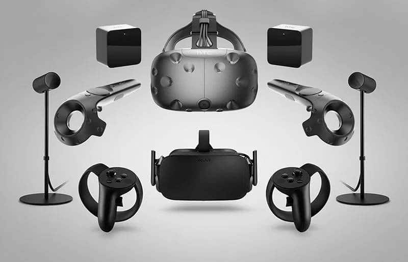 A full system of HTC Vive and Oculus Rift
