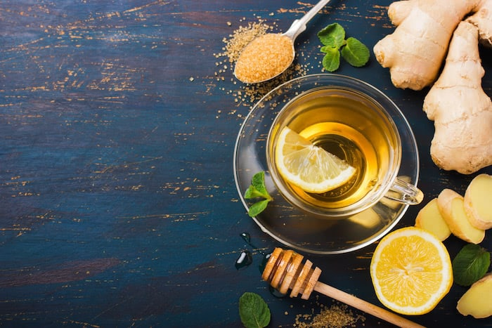 Ginger tea also helps to deal with nausea